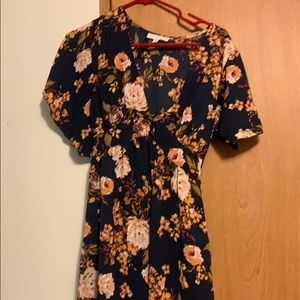 MAXI FLORAL WITH STUNNING CAP SLEEVES